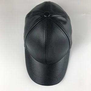 985aa4d5b12 Accessories - Vegan Leather SnapBack Baseball Cap 5 Panel Black